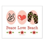 Peace Love Beach Flip Flop Small Poster