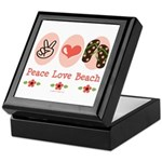 Peace Love Beach Flip Flop Keepsake Box