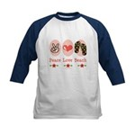 Peace Love Beach Flip Flop Kids Baseball Jersey