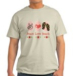 Peace Love Beach Flip Flop Light T-Shirt