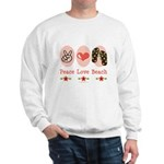Peace Love Beach Flip Flop Sweatshirt