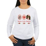 Peace Love Beach Flip Flop Women's Long Sleeve T-S