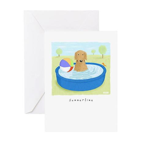 Golden Summertime Greeting Card