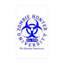 A Zombie Hunter University Rectangle Sticker 50 p