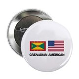 "Grenadian American 2.25"" Button (10 pack)"