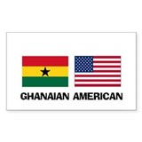 Ghanaian American Rectangle Decal