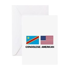 Congolese American Greeting Card