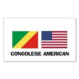 Congolese American Rectangle Decal