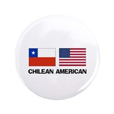 "Chilean American 3.5"" Button"