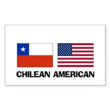 Chilean American Rectangle Decal