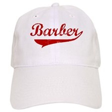 Barber (red vintage) Baseball Cap