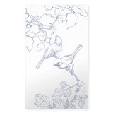 Japan Bird Sketch Rectangle Decal