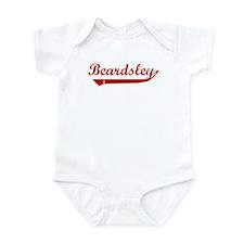 Beardsley (red vintage) Onesie