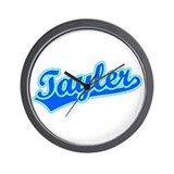 Retro Tayler (Blue) Wall Clock