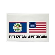 Belizean American Rectangle Magnet (10 pack)