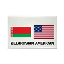 Belarusian American Rectangle Magnet (10 pack)