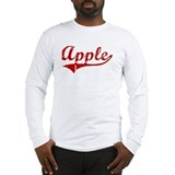 Apple (red vintage) Long Sleeve T-Shirt