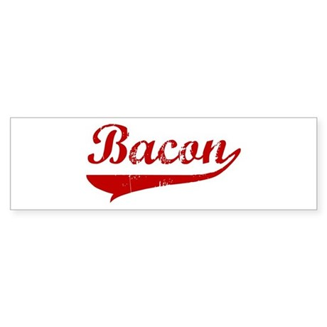 Bacon (red vintage) Bumper Sticker