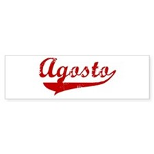 Agosto (red vintage) Bumper Bumper Sticker