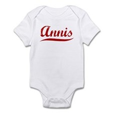 Annis (red vintage) Infant Bodysuit