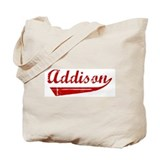 Addison (red vintage) Tote Bag