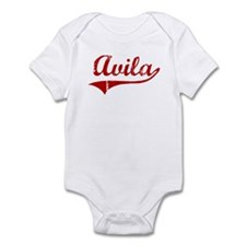 Avila (red vintage) Infant Bodysuit