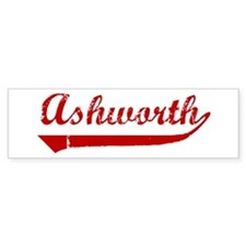 Ashworth (red vintage) Bumper Sticker (50 pk)