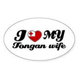I love my Tongan Wife Oval Decal
