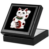White Maneki Neko Keepsake Box