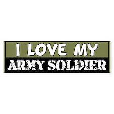 I Love My Army Soldier Bumper Bumper Sticker