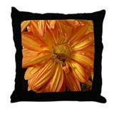 Orange w/Bee Throw Pillow