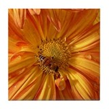Orange w/Bee 2 Tile Coaster