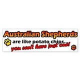 Potato Chips Australian Shepherd Bumper Bumper Sticker