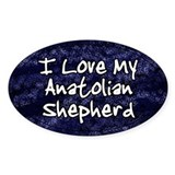 Funky Love Anatolian Shepherd Oval Bumper Stickers