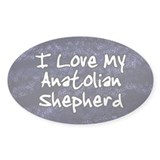 Funky Love Anatolian Shepherd Oval Decal