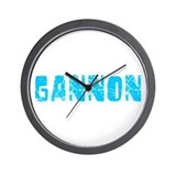Gannon Faded (Blue) Wall Clock