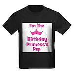 1st Birthday Princess's Pup! Kids Dark T-Shirt