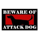 Beware of Attack Dog American Foxhound Decal