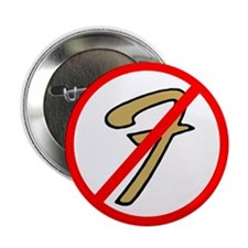 "No Fender 2.25"" Button (10 pack)"