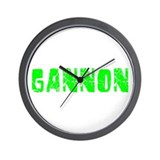 Gannon Faded (Green) Wall Clock