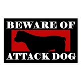 Beware of Attack Dog American Bulldog Decal