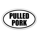 Pulled Pork Bumper Oval Decal