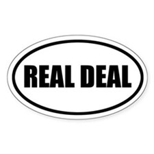 Real Deal Bumper Oval Decal
