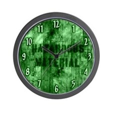 Green Hazardous Material Wall Clock