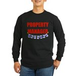 Retired Property Manager Long Sleeve Dark T-Shirt