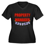 Retired Property Manager Women's Plus Size V-Neck
