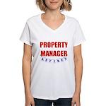 Retired Property Manager Women's V-Neck T-Shirt