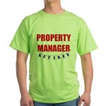 Retired Property Manager Green T-Shirt