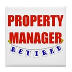 Retired Property Manager Tile Coaster