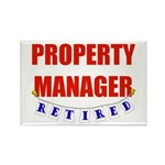 Retired Property Manager Rectangle Magnet (10 pack
